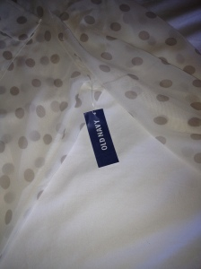Tag on Blouse